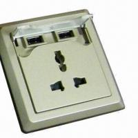 Quality Wall socket with two USB for sale
