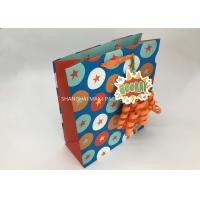 China Kids Mini Extra Large Xmas Gift Bags , Blue / Brown Unique Children'S Christmas Gift Bags on sale