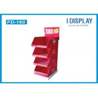 China B Flute Portable Cardboard Floor Displays , Cardboard Retail Display Stands For Chocolate on sale