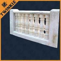 Quality Sandstone baluster white granite marble balustrade / decking handrails for sale