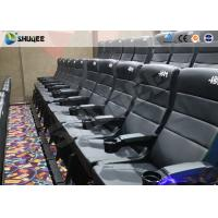 Quality Metal Screen Modern Interactive 4D Movie Theater With Chair Effects Vibration Seats for sale
