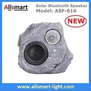 Quality Solar Bluetooth Speaker Resin Stone loudspeaker Lamp PIR Motion Sensor Lighting for Outdoor Garden Patio Backyard Park for sale