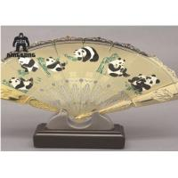Quality Right Hand Held Folding Fans   Include  Beijing Opera Facial  For Business Advertising Or Gift for sale