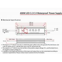 Constant Voltage 400W Waterproof Led Driver , EMC Standard IP67 LED Power Supply