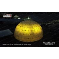 20m Diameter Lighting Geodesic Dome with Luxury Decoration Inside for sale