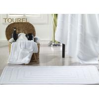 Quality Jacquard Luxury 100% Cotton Hotel Bath Mats / Thin Towel Floor Mat for sale