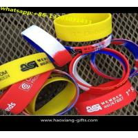 Buy cheap china factory promotional silicon wristband with embossed colourful logo from wholesalers