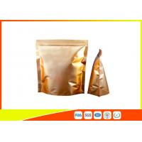Quality Custom Gold Coffee Bean Packaging , Stand Up Packaging Pouch Bag With Valve for sale