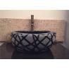 Black Granite Stone Bathroom Sink Bowls Diameter 40CM For Pedestal for sale