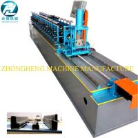 China U Channel Stud And Track Roll Forming Machine With Manual Decoiler / Runout Table on sale