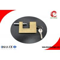 China Safety Brass Padlock In Strong Rectangular Lock Body Width 50mm on sale