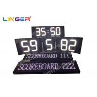Buy cheap White Color Polo Sport LED Electronic Scoreboard With Team Name from wholesalers