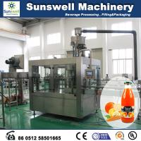 Quality Constant Pressure Hot Filling Machine , 3 In 1 Juice Production Line for sale