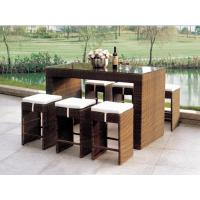 Quality 2014 popular rattan bar table and chair set for sale