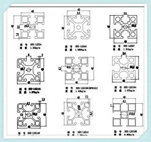 Quality 6063 Aluminium Construction Profiles , 40 X 40 X 1.6mm Industrial Aluminum Profile for sale