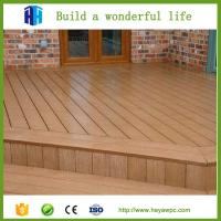Quality High quality eco waterproof wpc crack-resistant decking price list for sale