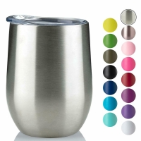 Quality 220ml Stainless Steel Stemless Wine Tumblers for sale