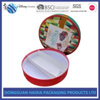 Quality Round Custom Printed Cardboard Boxes , Printed Packaging Boxes UV Coating for sale