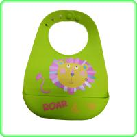 Quality Little Children Silicone Bib With Pocket , Flexible In The Hoop Baby Bibs for sale
