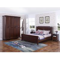 Quality Rubber Wood Furniture Thailand solid wood King/Queen Bed in Leisure American style with Nightstand and Wardrobe for sale