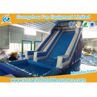 Quality Giant Commercial Inflatable Slide / Blue Inflatable Swimming Pool Water Slide for sale