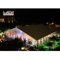 China Elegant White PVC Clear Span Marquee Tent Waterproof For Wedding on sale