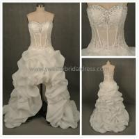 Quality Aline Sweetheart Beading High Low Lace and Organza Wedding Dress AS5319B for sale