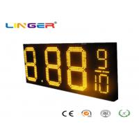Quality Waterproof RF Controller LED Gas Price Sign with Iron / Aluminum Cabinet for sale