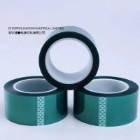 PET High Temperature Masking Tape , Green Heat Resistant Silicone Adhesive Tape for sale