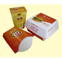 China Take Out Paper Box For Friench Fries / Hamburg And Popcorn Chicken Packages on sale