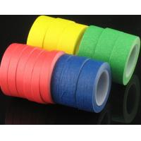 China 12/24/36/45/48mm automotive adhesive crepe paper masking tape for sale