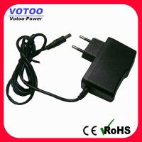 Quality EU plug 9v AC DC Power Adapter 1600ma / 2000mA Short Circuit Protection for sale