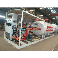 Quality Skid Mounted LPG Gas Tank For Mobile LPG Filling Stations With  Digital Scales for sale