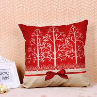 Quality Tree Pattern Printed Cushion Covers , Comfortable Couch Pillow Covers Cotton Flax for sale
