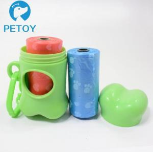 Quality Bone Shape Plastic  Environmentally Friendly Dog Poop Bags Custom Printing for sale