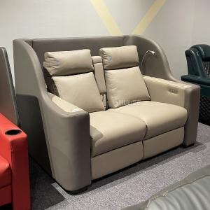 Quality Genuine Leather Cinema VIP Sofa Luxury Home Theater Lover Seats Recliner for sale