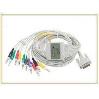 China Schiller EKG ECG Patient Cable With 10 Leadwires 4.0 Banana High Flexibility on sale