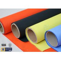 Buy cheap Acrylic Coated Fibreglass Fabric Orange 7628 260℃ 500℉ Chemical Resistant from wholesalers
