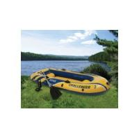 Quality Manual Ferry Barge / Rubber Boat With Canoe Oars For Three People for sale