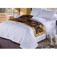 Quality 300 Tc Cotton European Hotel Bed Runners / Flat Sheet / Pillowcase for sale