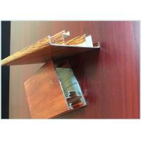 Quality Customized Hollow Wood Finish Aluminium Profiles Lightweight For Windows for sale