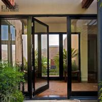 Quality Double Access Aluminum Entrance Door / Thermal Break Aluminium Swing Door for sale