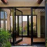 Quality Double Access Aluminum Entrance Door / Thermal Break Aluminium Swing Door for sale