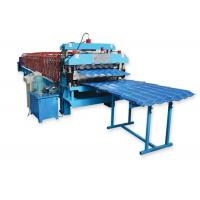 Metal Roofing Sheet Double Layer Roll Forming Machine By Chain Hydraulic Decoiler