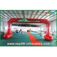 Buy cheap Red PVC Printed Start Finish Line Arches Double Sewing Inflatable Entrance Arch from wholesalers