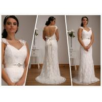 Quality Sheath Lace Low back Tulle wedding gown Bridal dress#1504 for sale