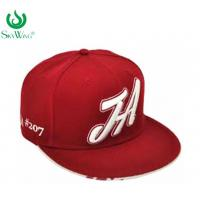Buy cheap 3D Embroidery Lightweight Flat Peak Golf Caps Soft Visor Unique Design from wholesalers