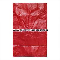 Quality Recyclable Red Virgin PP Woven Sacks Bags for Packing Fertilizer , Feed  and Sand for sale