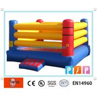 Quality Custom Fancy Inflatable Sports Games , Kids Inflatable Boxing Ring for sale