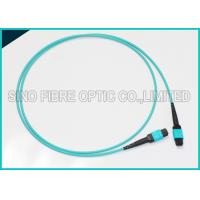 Buy 100Gbps 24F MPO Fiber Optic Cable Multimode OM3 Trunk Polarity B Aqua Patch at wholesale prices